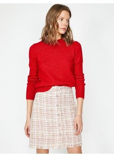 Koton Mini Triko Etek Kırmızı